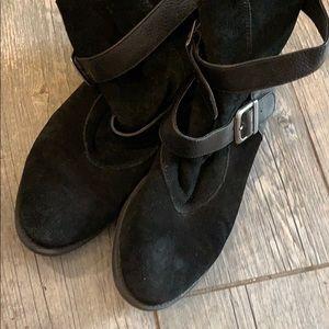 Mia black suede boots